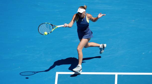 Wozniacki was striking the ball beautifully all match long (Xin Li/Getty Images)
