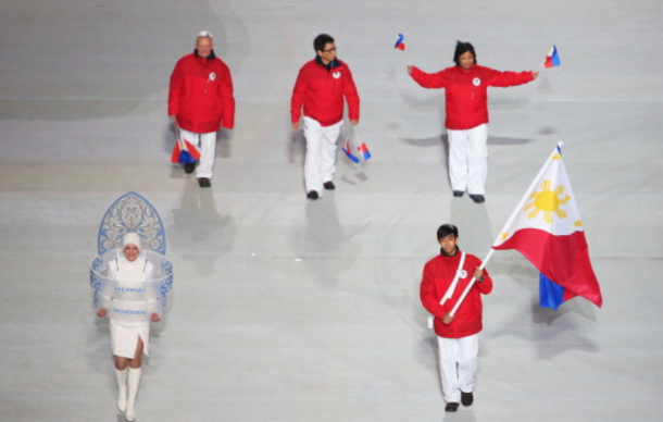 Martinez was the flag bearer in Sochi (Quinn Rooney/Getty Images)