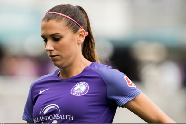 Striker Alex Morgan will report to the club after her duties with the USWNT in the She Believes Cup. (Photo by Joe Petro/Icon Sportswire via Getty Images)