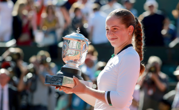 All smiles for Ostapenko after winning the French Open (Tim Clayton/Corbis Sport/Getty Images)