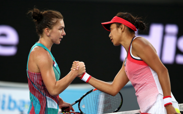 Zhang Shuai famously beat Simona Halep at the 2016 Australian Open which kept her from retiring from tennis (Quinn Rooney/Getty Images)
