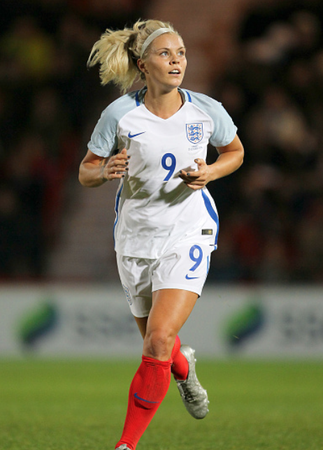 Rachel Daly is listed as a defender on England's Women's National Team roster. (Photo by Richard Sellers/PA Images via Getty Images)