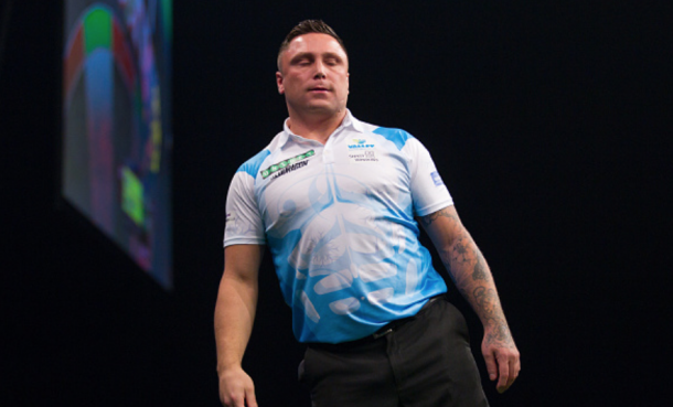 Gerwyn Price's Premier League run officially comes to an end at Judgement Night but he is out of the competition, sat only on two points (Paul Jenkins/Action Plus/Getty Images)