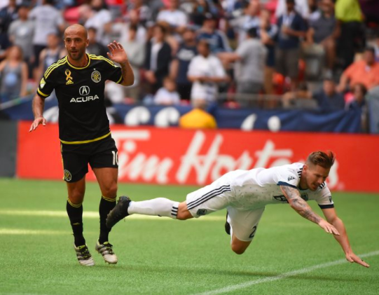 Federico Higuain in action against the Vancouver Whitecaps last year. The game ended 2-2. | Photo: mlssoccer.com