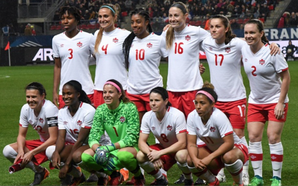 Canada's starting 11 against France in an International Friendly. (Photo by JEAN-FRANCOIS MONIER/AFP/Getty Images)