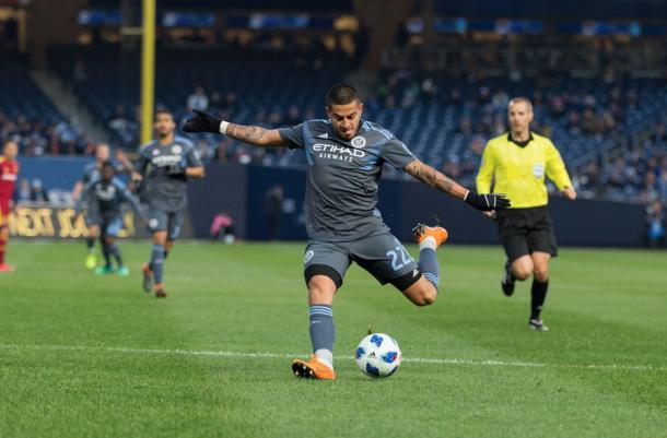 Ronald Matarrita vs. Real Salt Lake. | Photo: New york City FC