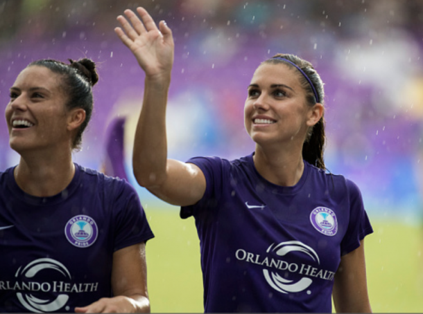 Ali Krieger (left) and Alex Morgan will welcome the Seattle Reign FC to Orlando City Stadium on Saturday.(Photo by Joe Petro/Icon Sportswire via Getty Images)