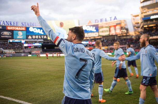 David Villa celebrating his 400th career goal. | Photo: New York City FC
