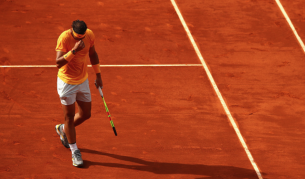 Nadal struggled for most of the match, especially on the backhand side (Clive Brunskill/Getty Images)