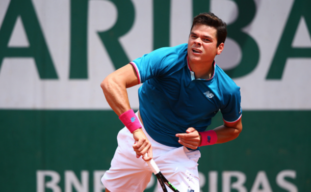 Raonic in action during the French Open last year (Icon Sportswire/Getty Images)