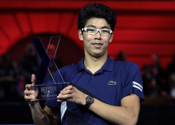 Chung's first title came in Milan at the ATP NextGen Finals (Emilo Andreoli/Getty Images)