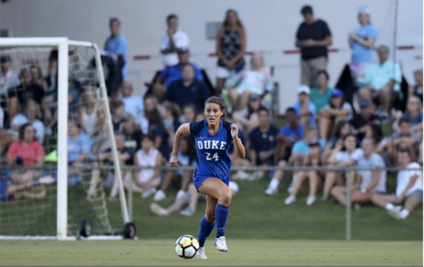 Courage Replacement Morgan Reid shows off her skills during a Duke game last August. Photo: Getty Images/IconSportswire