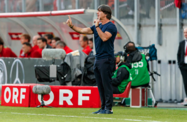 Coach Joachim Löw was visibly frustrated throughout the match (Photo by TF-Images/Getty Images)