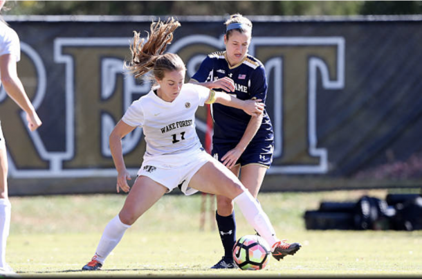 Maddie Huster played at Wake Forest before joining the Spirit Reserve team. Photo: Getty Images/IconSportswire
