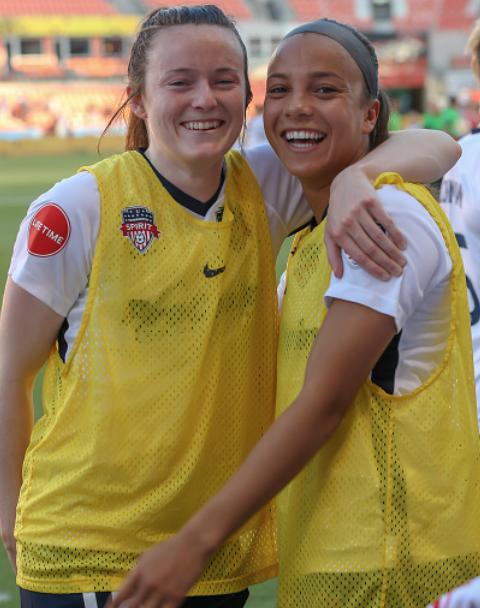 Washington Spirit will be without their two young superstars Rose Lavelle (left) and Mallory Pugh (Photo by Leslie Plaza Johnson/Icon Sportswire via Getty Images)