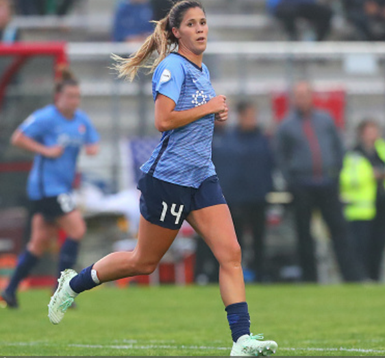 Katie Johnson will try to lead Sky Blue FC to their first win of the season. (Photo by Rich Graessle/Icon Sportswire via Getty Images)
