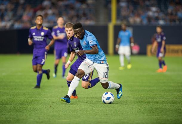 Ebenezer Ofori in NYCFC's last MLS match. | Photo: New York City FC