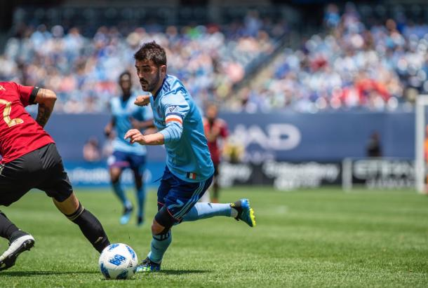 David Villa creating in the first half. | Photo: New York City FC
