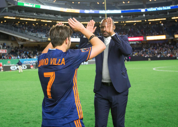 Patrick Vieira with his captain, David Villa. | Photo: New York City FC