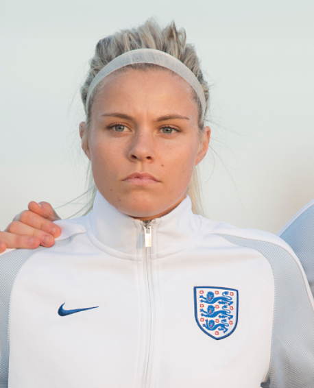 Rachel Daly of the Houston Dash and England Women's National team got the start against Russia in European Women's World Cup qualifier. (Photo by Jose Breton/NurPhoto via Getty Images)