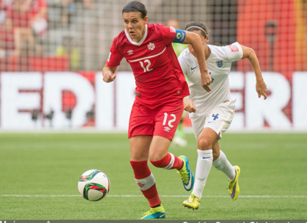 NWSL leading goal scorer Christine Sinclair scored her 173rd goal of her international career (Photo by Christopher Morris/Corbis via Getty Images)