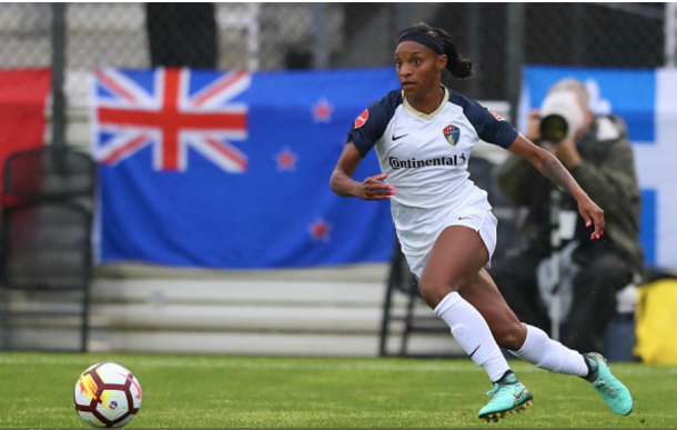 Crystal Dunn shows off her speed. Photo: Getty Images