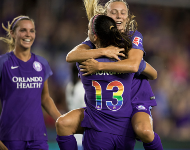 Orlando Pride are second in the league in goals scored and look to continue that trend against the Washington Spirit Saturday night. (Photo by Joe Petro/Icon Sportswire via Getty Images)
