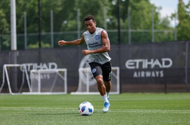 Jonathan Lewis in training with NYCFC. | Photo: New York City FC