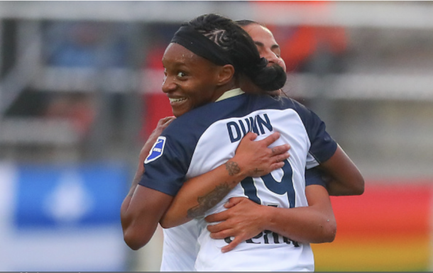 Crystal Dunn has been voted the NWSL's Player of the Week twice this season. Photo: Getty Images/IconSportswire