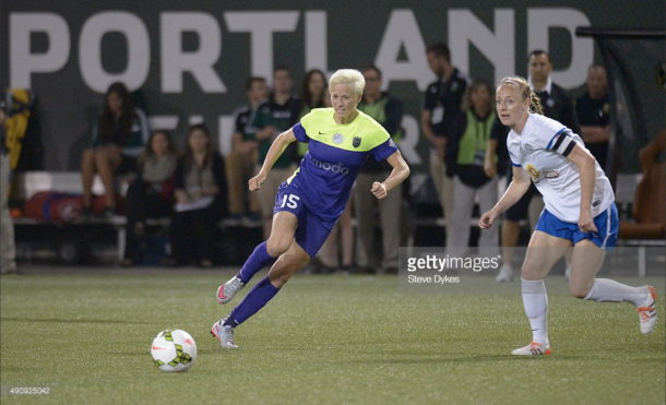 Megan Rapinoe is often a key component for Seattle's shots on goal. Image: Getty Images/IconSportswire
