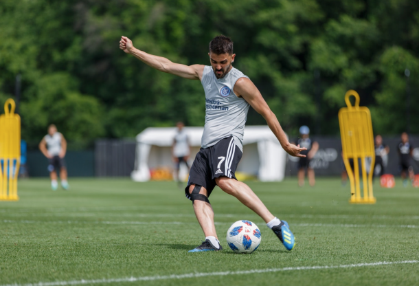 David Villa will mis Saturday's match through injury. | Photo: New York City FC