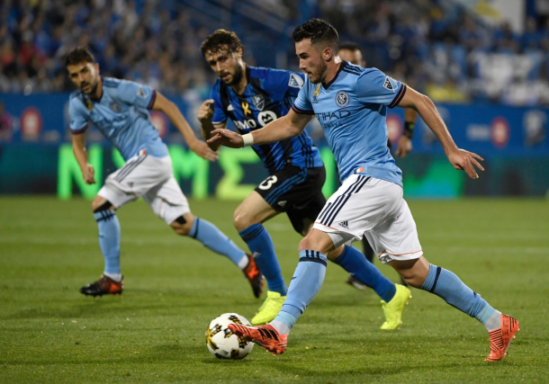 Jack Harrison vs the Montreal Impact. | Photo: New York City FC
