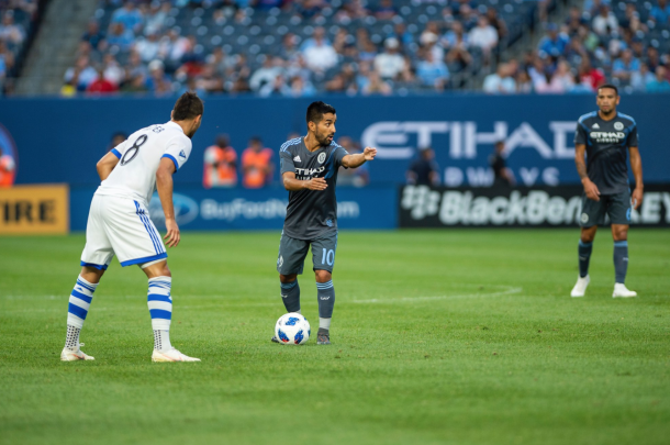 Maxi Moralez running the show. | Photo: New York City FC