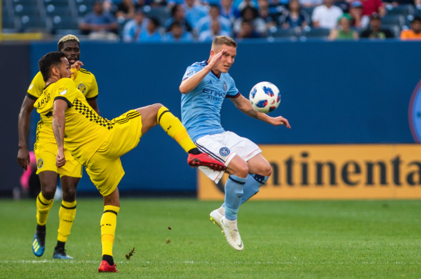 Midfield battle in the first half. | Photo: New York City FC
