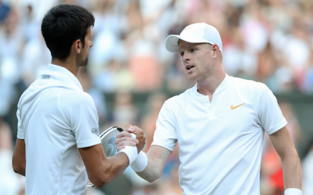 Djokovic avenged his Madrid loss to Edmund at Wimbledon (John Patrick Fletcher/Action Plus/Getty Images)