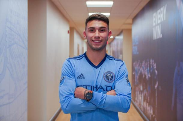 Castellanos in his new colors. | Photo: New York City FC