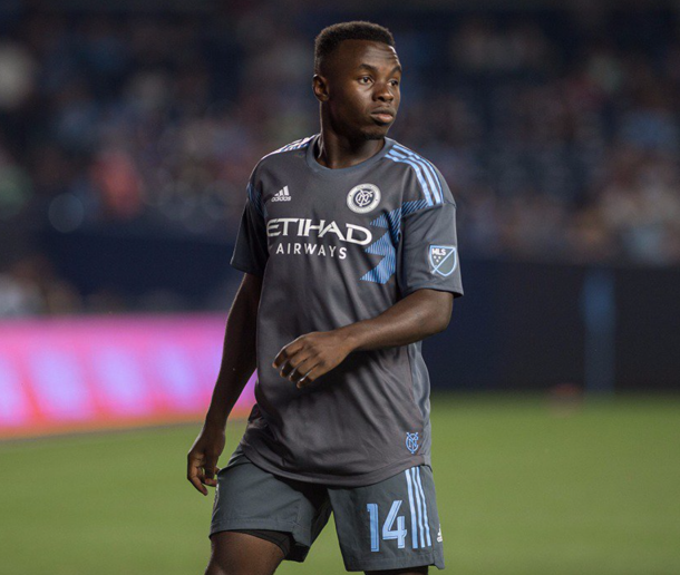 Kwame Awuah made his MLS debut on Sunday. | Photo: New York City FC