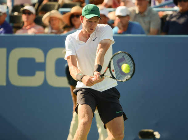 Edmund's backhand played a key role in his ability to take the second set