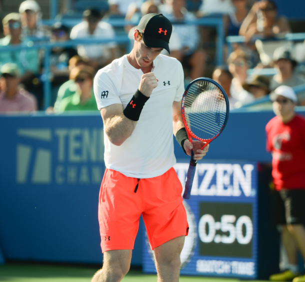 The first set went over an hour, but Andy Murray found a way through coming from behind in the set and the tiebreak (Noel Alberto/VAVEL USA)