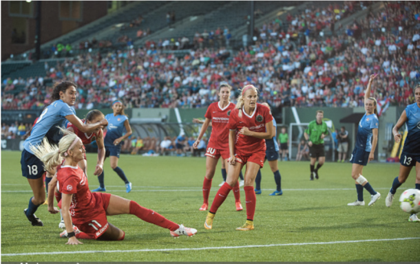 The Thorns recently beat the Sky Blue 2-1. Getty Images/IconSportswire