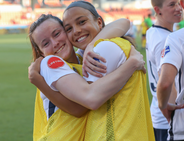 Young duo Rose Lavelle (left) and Mallory Pugh (right) reunited to help get Washington back on track. (Photo by Leslie Plaza Johnson/Icon Sportswire via Getty Images)