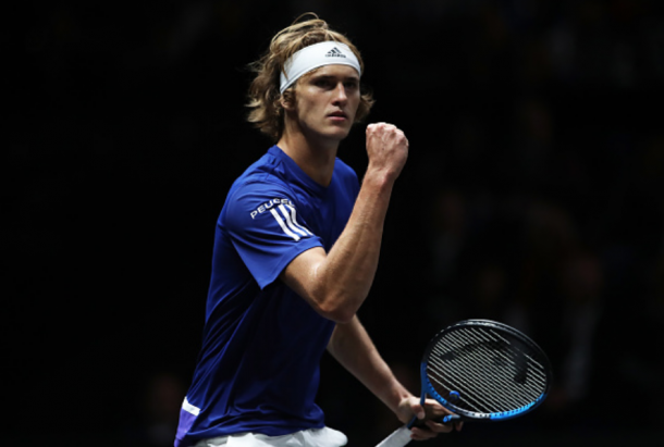 Sascha Zverev went two for two at the Laver Cup last year, winning both his singles matches (Julian Finney/Getty Images)