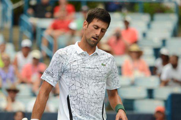 Despite feeling ill, Djokovic found a way to get the victory (Noel Alberto/VAVEL USA)