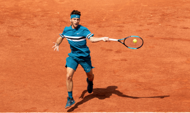 Corentin Moutet in action at the French Open (Fred Lee/Getty Images)