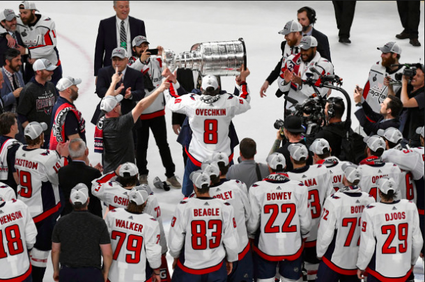 The Washington Capitals celebrate after winning the Stanley Cup. | Photo: Getty Images
