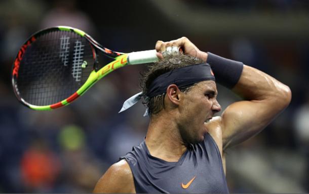 Nadal's trademark forehand whip (Julian Finney/Getty Images)