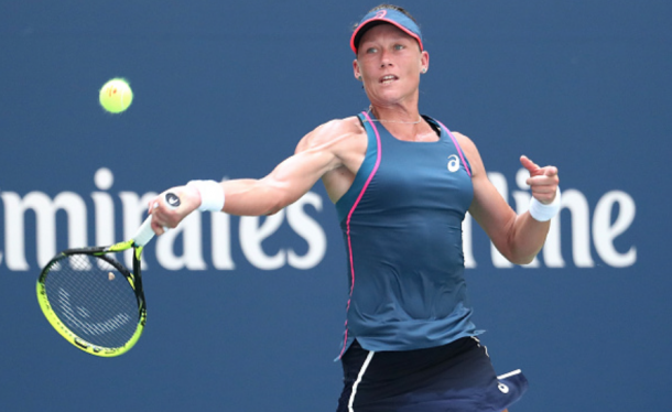 Sam Stosur's forehand was a let down for her today (Al Bello/Getty ImageS)