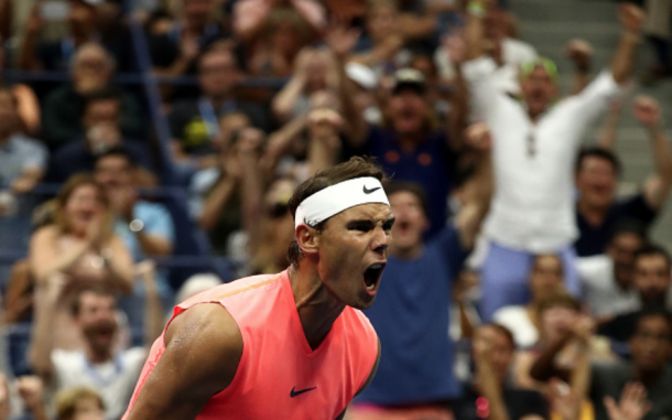 Nadal stole the second set with two late breaks (Al Bello/Getty Images)