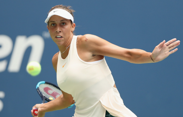 Madison Keys preparing to hit one of her powerful forehands (Matthew Stockman/Getty Images)