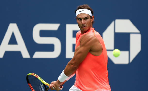 Nadal's backhand on the defensive today was excellent (Alex Pantling/Getty Images)